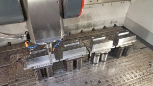 Finish machining ganged inserts on Fidia K199